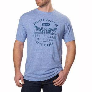 Levi's Mens NEW Heather Blue T-shirt NWT Classic